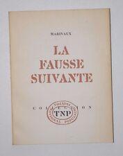 La fausse suivante, Marivaux, Théâtre National Populaire 1964
