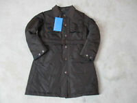 NEW Piquadro Trench Coat Jacket Womens Medium Size 8 EUR 42 Brown Puffer $585