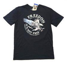 NWT Galt USA Men's Short Sleeve T-Shirt Freedom Bird Black, Size 2XL XXL