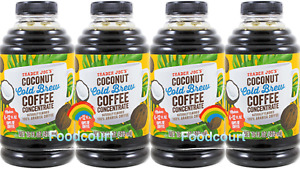 4 Packs Trader Joe's Coconut Cold Brew Coffee Concentrate 16 fl oz Each Pack