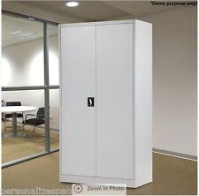 2 Metal Doors 180cm Steel Storage Cabinet Office Furniture Adjustable Shelves