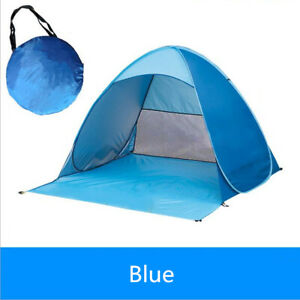 Pop Up Beach Tent Canopy UV Camping Fishing Mesh Sun Shade Shelter 2-3 Persons