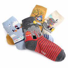 [Free P&P] Miyazaki's Movie Socks (4-Pack) Totoro Chihiro Howl Women Fashion VJ