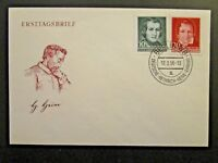 Germany DDR SC# 284 - 285 FDC / Unaddressed / Cacheted - Z4555