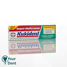 Dental  TWO Kukident Extra Strong Denture Adhesive Cream 47gr each FREE SHIPPING