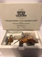 RETIRED DEPT. 56 HERITAGE VILLAGE PORCELAIN CHELSEA MARKET FRUIT MONGER & CART