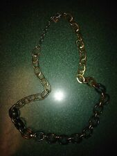 """Nordstrom 14th & Union Necklace Chain Link Gold Tone & Tortoise Amber  30"""""""