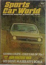 Vintage Sports Car World Magazine June 1975 Maserati Bora  Alfasud ti  Madza RX3