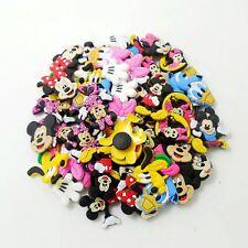 50pcs Mickey Minnie Pluto Duck Hand Shoe Charms For Croc Jibbitz Bracelets Gifts