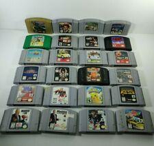 Nintendo 64 N64 Games Cartridge Only U Pick Choose Fun Rare Action Sports Racing