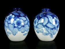 Camille Tharaud paire de vases fleurs et feuillages Limoge art-déco c1930 H:28cm