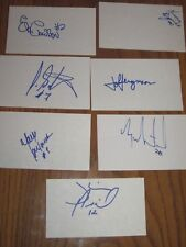 SHERBROOKE CANADIENS LOT OF 15 AUTOGRAPHED 3X5 INDEX CARDS FROM 1989-1990 SEASON