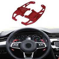 Fit VW GTI Golf7 MK7 Red Steering Wheel Shift Paddle Aluminum DGS Extension TE