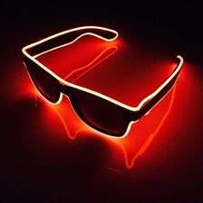Red Neon Sunglasses EDM Festival Party Cool Funky LED Light Up Sun Glasses