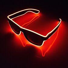 Gafas de sol de Neón Rojo EDM Festival Fiesta Luz LED fresco Funky hasta gafas de sol