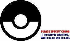 "Pokemon Poke Ball Super Smash Graphic Die Cut decal sticker Car Truck Boat 9"""
