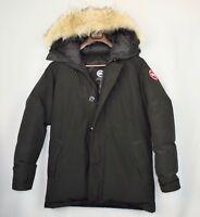 Canada Goose Chateau Down Parka - Men's XL Black Coyote Fur Slim Fit Coat Jacket