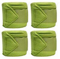 LIME GREEN Fleece Polo/Leg Wraps Set of Four!! NEW HORSE TACK!!
