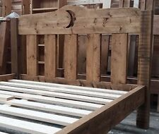 Made to Order - Rough Sawn Chunky Solid Pine Bed Frame with Low Toe