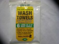 HUNTERS SPECIALTIES SCENT-A-WAY WASH TOWELS SCENT ELIMINATION BOW/GUN HUNTING