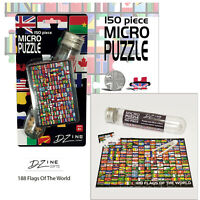D Zine Micro Puzzle In a Test Tube Jigsaw Flags of The World 150pcs Novelty Gift