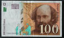 France - Francia - Billet de 100 Francs Cézanne de 1998