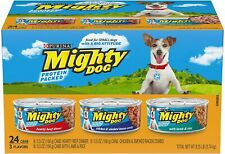 Purina Mighty Dog Ground Wet Dog Food Variety Pack Small Dogs - 24 Cans 5.5 oz.