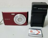 Sony Cyber-shot DSC-W510 12.1MP Digital Camera - Red *Fine/tested*