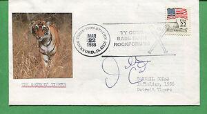 Firmado Cubierta Darnell Coles 1986 Detroit Tigers Infielder - B0767