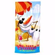 "NEW Disney Frozen Olaf Chillin In The Sunshine Beach Towel 28"" x 58"""