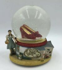 Wizard of Oz Snowglobe Slippers San Francisco Music Box Plays Over The Rainbow