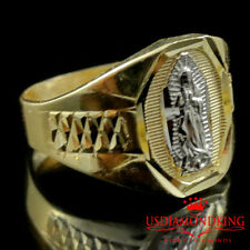 MEN'S 3.4 Grams 10K REAL TWO TONE GOLD VIRGIN MOTHER MARRY RING BAND SIZE 10 NEW