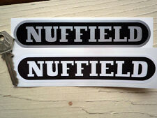 "NUFFIELD TRACTOR STICKERS 6"" Pair Black & Silver or White Agricultural Farm"