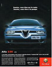 PUBLICITE ADVERTISING  2000   ALFA ROMEO  ALFA 156 JTD