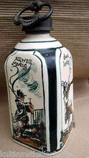 ulmer keramik um 1940 flasche karaffe zinnsverschluß handbemalung großartig