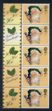 Gb Qe2 Smilers 2000 Sheet 1st Cracker strip 5+labels Um