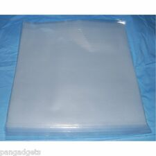 """50 12"""" POLYTHENE RECORD SLEEVES COVERS 250G BEST QUALITY ALBUM LP"""