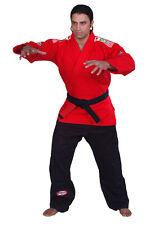 Woldorf Usa Bjj jiu jitsu Gi Single Weave Red Jacket Black Pant Belt Grappling