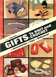 Retro Women's Weekly Gifts To Knit & Crochet Booklet Dated 1973 handbag tea cosy