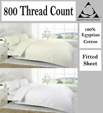 Egyptian Cotton Fitted Sheet  800 Thread Count Single Double Super King Size New