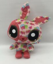 "Littlest Pet Shop Happiest Bunny Stuffed Plush 10"" 2008 Hasbro Authentic"