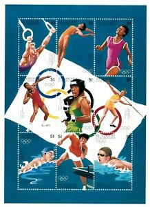 St. Vincent 1996 SC# 2318 Olympic Games, Sports, Swim - Sheet of 9 Stamps - MNH