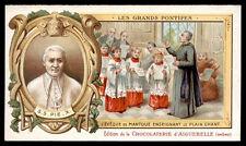 santino-holy card AIGUEBELLE-S.PIO X PAPA