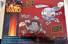 Star Wars Space Battle Kit 155 Stickers 14 Punch-Outs Build Remove Decorate Nib