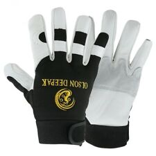 Work Gloves Cowhide Leather Driver Motorcycle Gardening Construction Warm Gloves