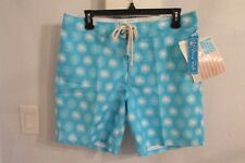 NWT STRONG BOALT PALM BEACH SIZE 30 BLUE w/WHITE STAR BURSTS SWIM TRUNKS