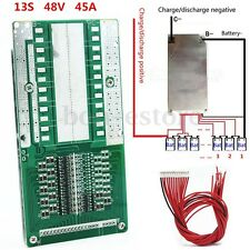 For 48V 13S 45A Li-ion Lipolymer Battery BMS PCB With Balance For Ebike Escooter