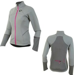 Pearl Izumi Elite Escape Softshell Cycling Jacket top Grey pink S uk 8 / 10 new