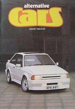 Alternative Cars 08/1983 featuring Porsche 944, Pontiac Fiero, Hustler Huntsman