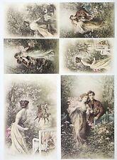 A/4 Classic Decoupage Paper Scrapbook Sheet Vintage Love Date 3